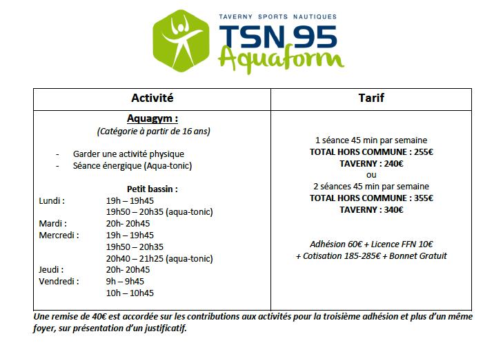 aquaform tsn95 TAVERNY
